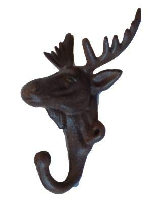 CAST Iron Moose/ELK Wall Coat Hook