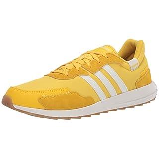 adidas Women's Retrorun Sneaker, EQT Yellow/Cloud White/Gum, 5.5 M US