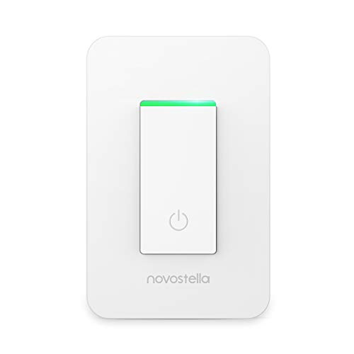 Novostella Smart Light Switch, Wi-Fi Wall Switch with Remote Control and Timing Function, No Hub Required, Works with Alexa and Google Home, ETL Listed 15A (1 Pack)