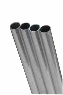 "K&S Metal Round Tube 7/32"" D X 36"" L Aluminum"
