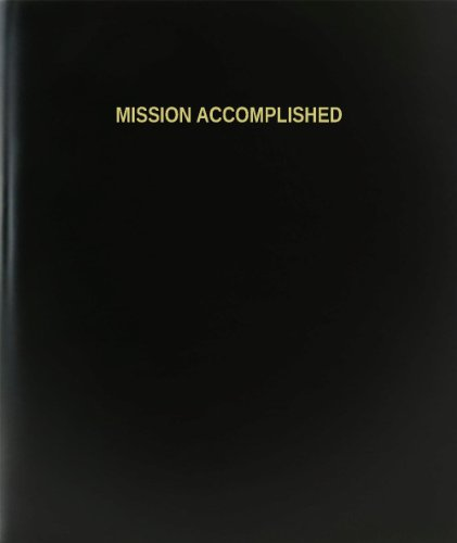 BookFactory® Mission Accomplished Log Book / Journal / Logbook - 120 Page, 8.5