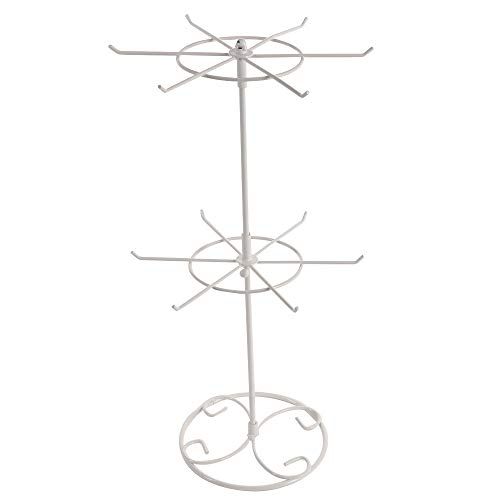 (Asdomo 2 Tier/3 Tier Counter Top Spinner Rack Jewelry Organizer Tower Necklace Tree Display Stand)