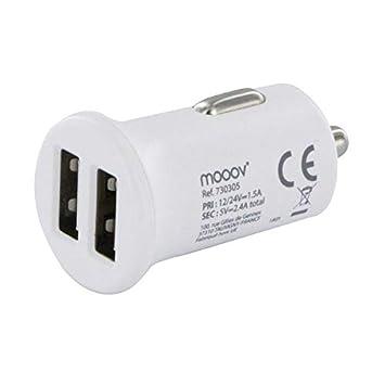 Mooov - Cargador Doble USB para mechero de Coche (2,4 A ...