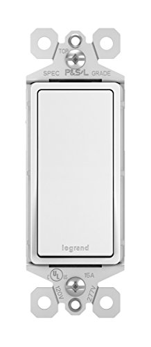 Legrand-Pass & Seymour TM870WCC10 radiant 15 Amp Single Pole Rocker Wall Light Switch, White