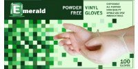 Emerald Shannon Powder-Free Vinyl Disposable Gloves, Large, 1000/Cs by Emerald Brand