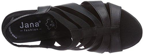 Jana 28304 - Sandalias de vestir de cuero para mujer negro - negro