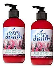 Exfoliating Bath Soap - Bath and Body Works 2 Pack Gentle Exfoliating Hand Soap Frosted Cranberry. 8 Oz.