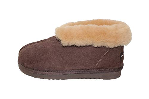 Furfurmouton Women's Slippers Booties Australian Sheepskin E809 (8, Chocolate)