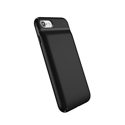 Speck Products Compatible Phone Case Apple iPhone 7, Presidio Power 2500mAh Battery Case, Black/Black