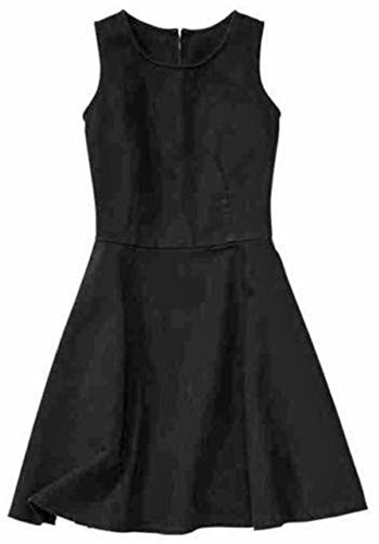 GAP Womens Black Denim Zip Back Flare Sun Dress 12