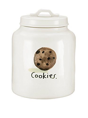Rae Dunn by Magenta Limited Edition - Cookies - Cookie Jar - Stoneware Vintage Print (Limited Edition Cookie Jar)