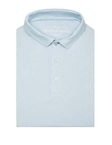(Mizzen + Main Phil Mickelson Light Blue Golf Polo - Quick Dry Men's Polo - UPF 30+ -)