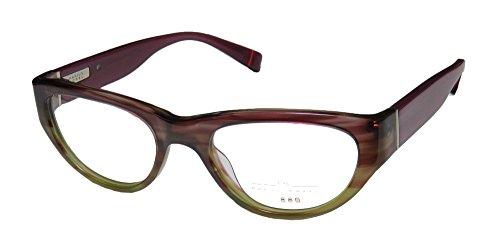 Marius Morel 1880 1970m Mens/Womens Designer Full-rim Eyeglasses/Glasses (50-19-135, Purple / - Frames Glasses 1970