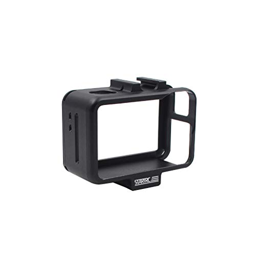 Gallity Sports Camera Case Shatterproof shell,Premium Aluminum Protective Frame Housing Case Shell For DJI OSMO Action Camera (black)