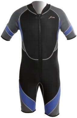 Scubatec Neoprenanzug Neopren Shorty 3 mm mit Front-Rei/ßverschluss schwarz//blau//grau
