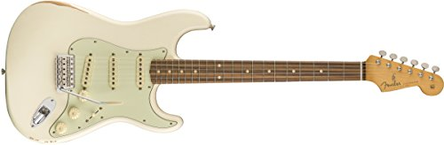Fender Road Worn 60's Stratocaster Electric Guitar - Pau Ferro Fingebroard - Olympic White
