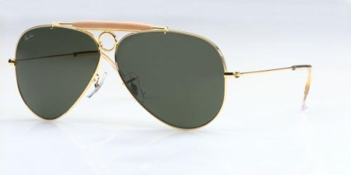 Ray Ban RB3138 Shooter Sunglasses-001 Arista Gold (G-15XLT Lens)-58mm by Ray-Ban