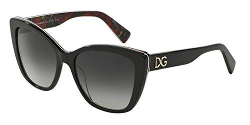 Dolce&Gabbana DG4216 Sunglasses 2940T3-55 - Black On Printing Roses Frame, Polar - Gabbana Sunglasses & Dolce