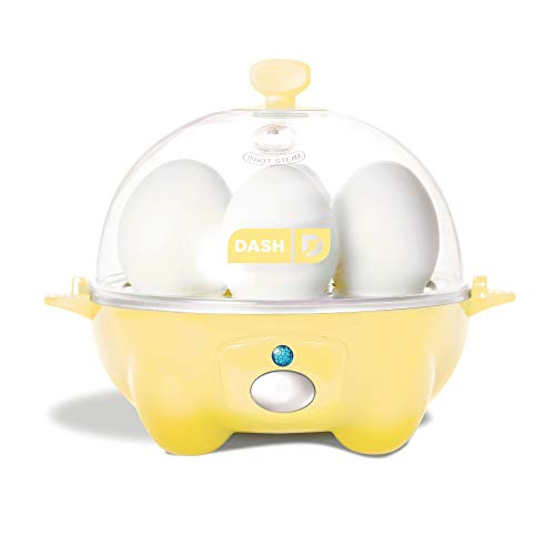 Egg Yellow Cup (Dash Rapid Egg Cooker: 6 Egg Capacity Electric Egg Cooker for Hard Boiled Eggs, Poached Eggs, Scrambled Eggs, or Omelets with Auto Shut Off Feature - Yellow)