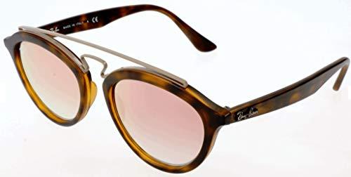 Ray-Ban Women's Gatsby II RB4257 6267B9 Non-Polarized Sunglasses, Matte Havana/Copper Gradient Mirror, 50 mm (Ray-ban Brille Neues Modell)