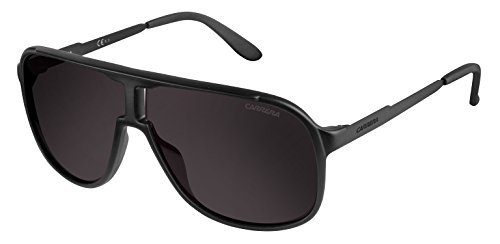Carrera Men's New Safaris Aviator Sunglasses, Matte Black,Shinny Black & Brown Gray, 62 - Carrera Sunglasses