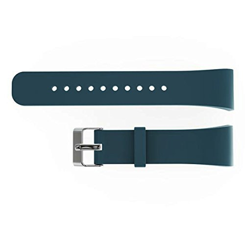 Aobiny Smart Watch Band, Luxury Silicone Watch Replacement Band Strap For Samsung Gear Fit 2 SM-R360 (Light Blue)