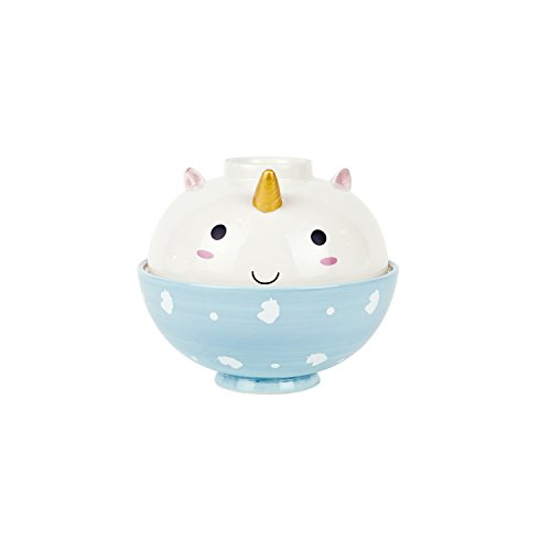 SMOKO Ceramic Hand Painted Elodie Unicorn Ramen Bowls, Microwave Safe