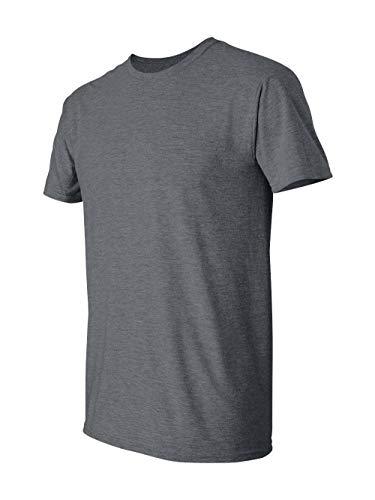 Gildan Men's Softstyle Ringspun T-shirt - Large - Dark Heather