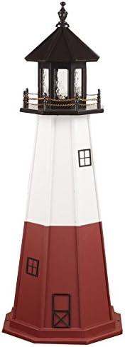 AmishShop.com Poly Vermillion Lighthouse Replica 6 High