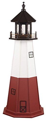 - Poly Vermillion Lighthouse Replica 6' High