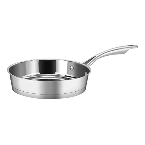 Advantage Stainless Steel Skillet - Cuisinart 72I22-20 Conical Stainless Steel Induction Skillet, Medium