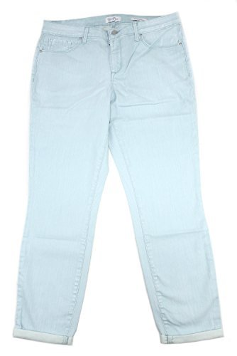 Simpsons Blue Pants - Jessica Simpson Women's Rolled Crop Skinny Jean (12/31, Canal Blue)