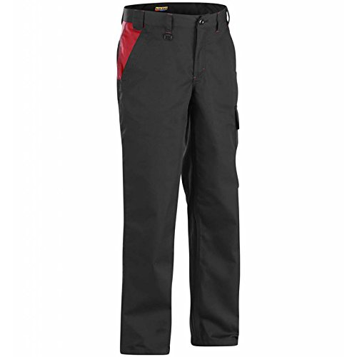 Blaklader 140418009956C156 Industry Trousers Size 40//34 Black//Red