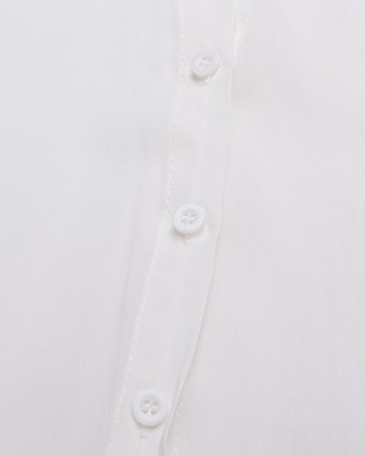Casual Shirt Blanc Women Collar Style Tops Dress Down T Long Blouse Zanzea Button Boyfriend Tq8pwwa