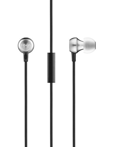 Apple 3 Button Mic - RHA MA390 Universal Earbuds: Aluminium in-Ear Headphones with Mic & Remote for Apple & Android, 3 Year Warranty Included