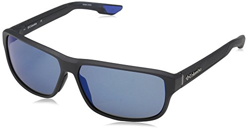 Columbia Men's Ridgestone Rectangular Sunglasses, Matte Shark, 62 - Sunglasses Columbia