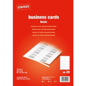 Staples basic mp white business cards 85 x 55 mm 175 g 200 st staples basic mp white business cards 85 x 55 mm 175 g 200 st reheart Choice Image