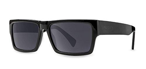 Filtrate Eyewear Adult Ritz Polarized Sunglasses - Gloss Black / Grey Lens - Sunglasses Ritz