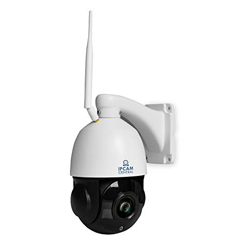 IPCC-7210W HDPro - 5X Optical Zoom, HD 2.0 Mega Pixel, WiFi, Plug and Play, Outdoor Dome PTZ IP Camera, Nightvision, Audio, ONVIF Compatible with Synology, Blueiris- Color White