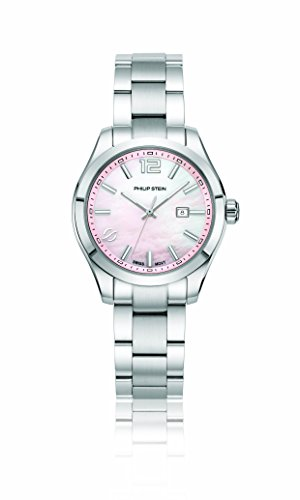 Philip Stein Women's 'Traveler' Swiss Quartz Stainless Steel Casual Watch, Color:Silver-Toned (Model: 91-CPKMOP-SS)