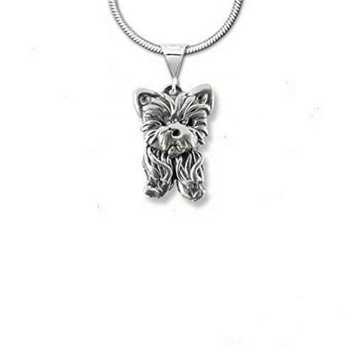 Sterling Silver Yorkie Puppy Pendant by The Magic Zoo