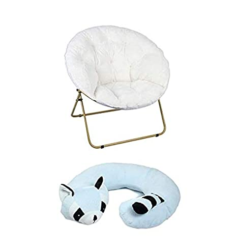 Groovy Amazon Com Mainstays Oversized Plush Saucer Chair White Squirreltailoven Fun Painted Chair Ideas Images Squirreltailovenorg