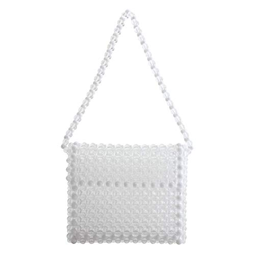 LETODE transparent crystal luxury handbags women bags designer evening bag clutch ladies shoulder bags for wedding ()