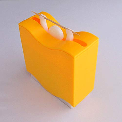 1pc Weight Lifter Automatic Toothpick Holder Bucket Tooth Pick Organizer Box cure-dent Home Bar Table Decor Accessories (Lifter Toothpick Weight Holder)