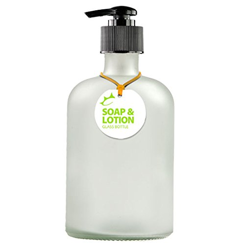 Couronne Company B5533PB10 Apothecary Recycled Glass Lotion or Soap Bottle, 13.5 oz, Frosted, 1 Piece