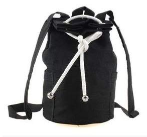 Large Capacity Men Drawstring Backpack Canvas Bucket Bag uniFashionable Concise Bags