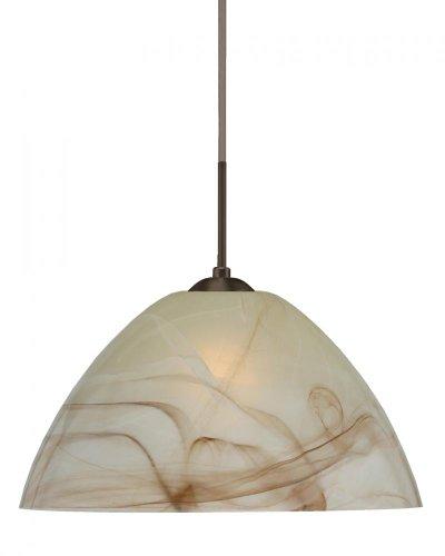 Besa Lighting 1JC-420183-LED-BR 1X6W GU24 Tessa LED Pendant with Mocha Glass, Bronze Finish