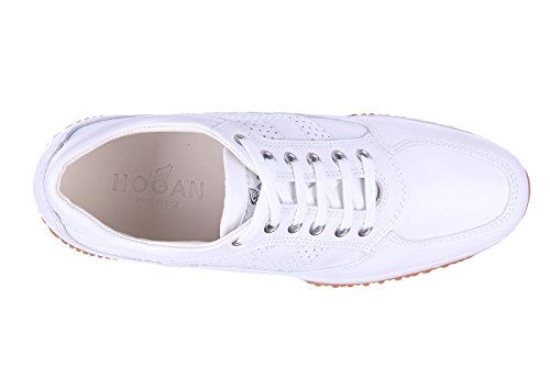Hogan chaussures baskets sneakers femme en cuir interactive h bucata blanc