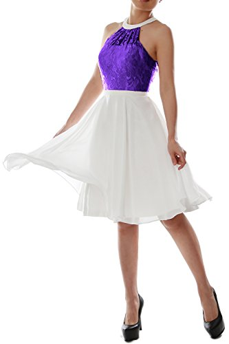 Homecoming Women MACloth Lace Violett Party Gown Short Bridesmaid Dress Wedding Halter 8q4Odqr