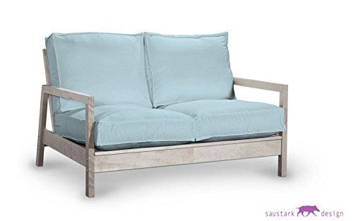 Saustark Design Bio-Pure Azul Funda para IKEA LILLBERG 2 ...